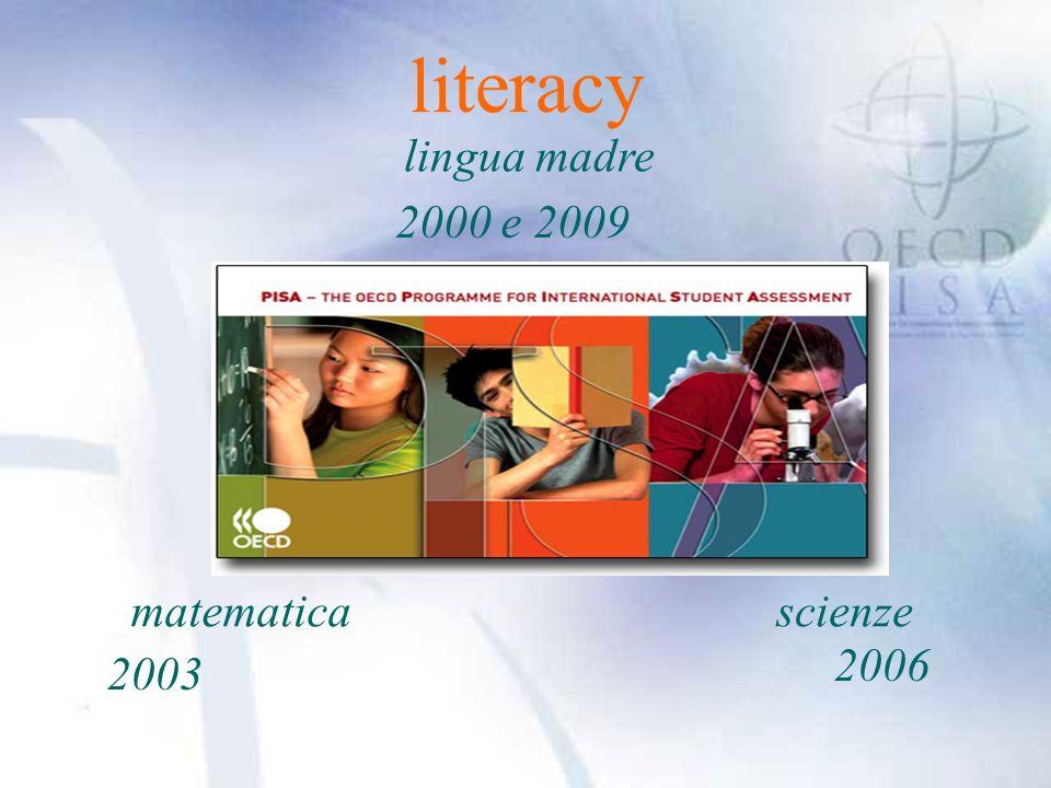 literacy lingua madre matematicascienze 2000 e 2009 2003 2006