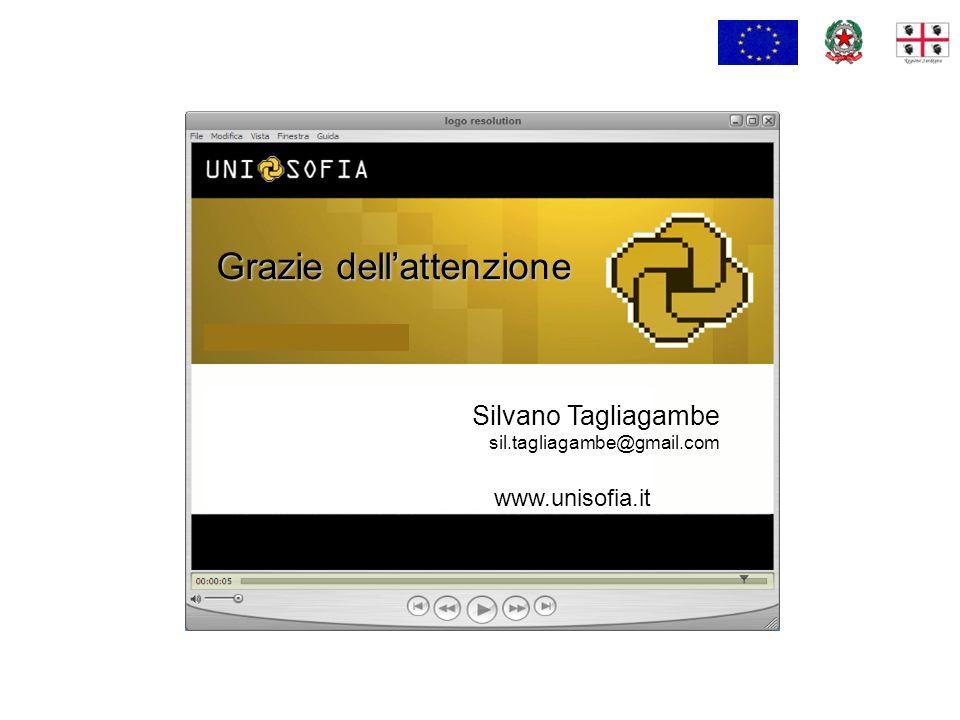 Silvano Tagliagambe sil.tagliagambe@gmail.com Grazie dellattenzione www.unisofia.it