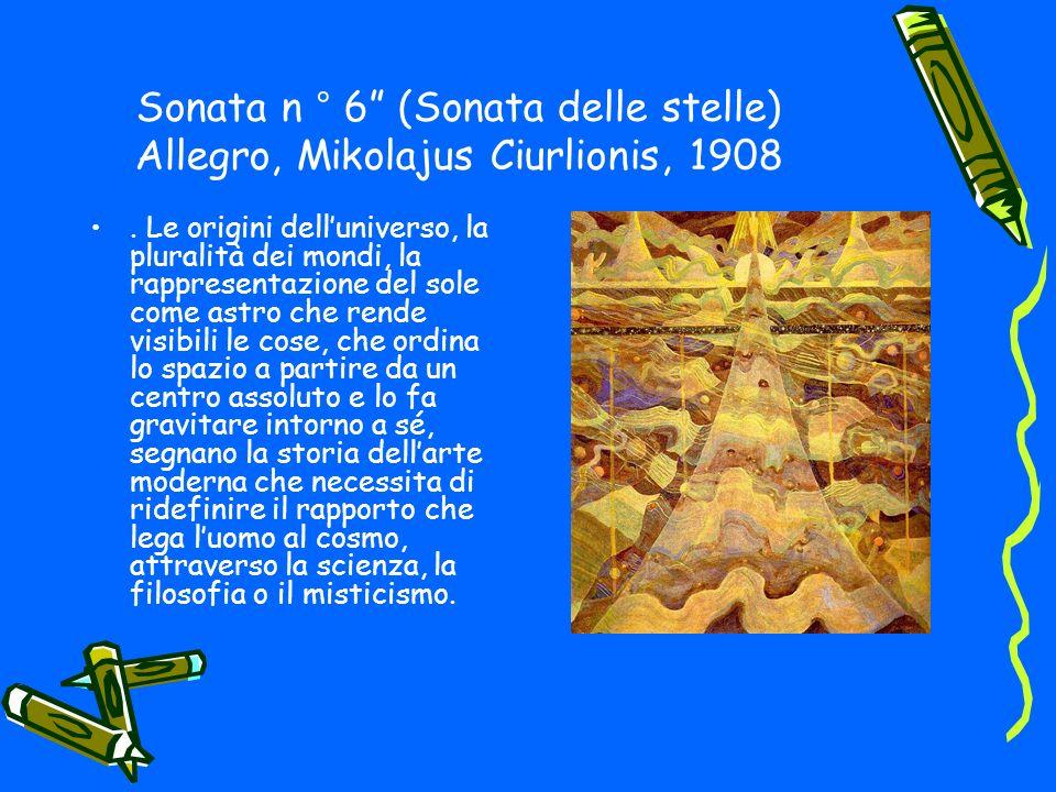 Sonata n ° 6 (Sonata delle stelle) Allegro, Mikolajus Ciurlionis, 1908.