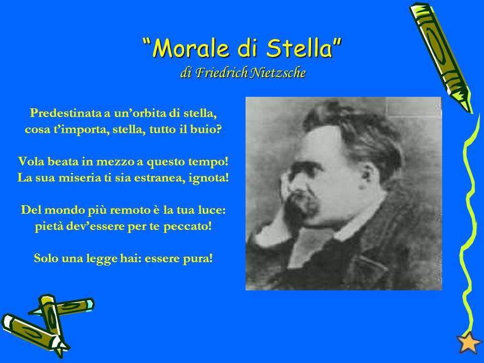 Morale di Stella Predestinata a unorbita di stella, cosa timporta, stella, tutto il buio.