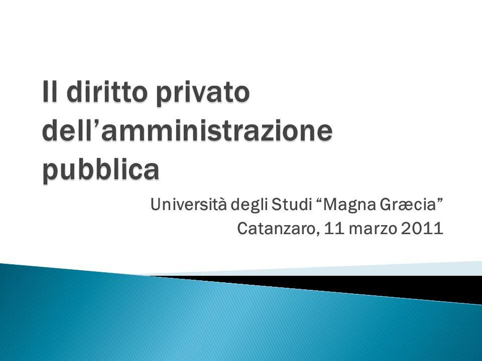 Università degli Studi Magna Græcia Catanzaro, 11 marzo 2011