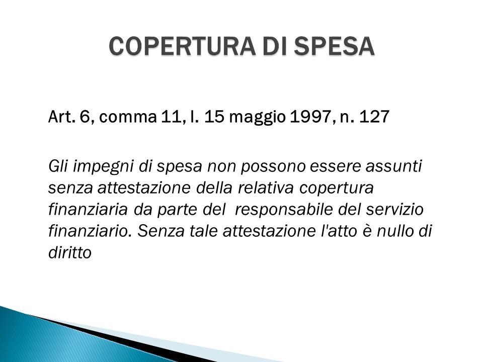 Art. 6, comma 11, l. 15 maggio 1997, n.