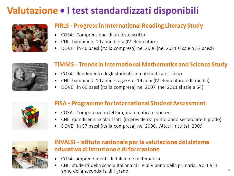 Valutazione I limiti 1.Loggetto della misurazione: competenze (problem solving) o conoscenze.