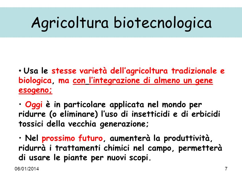 06/01/201418 Gm agriculture and food are safer than traditional agriculture and food because they are carefully controlled Philippe Busquin EU Research Commissioner Risk assesment within the programme: E.