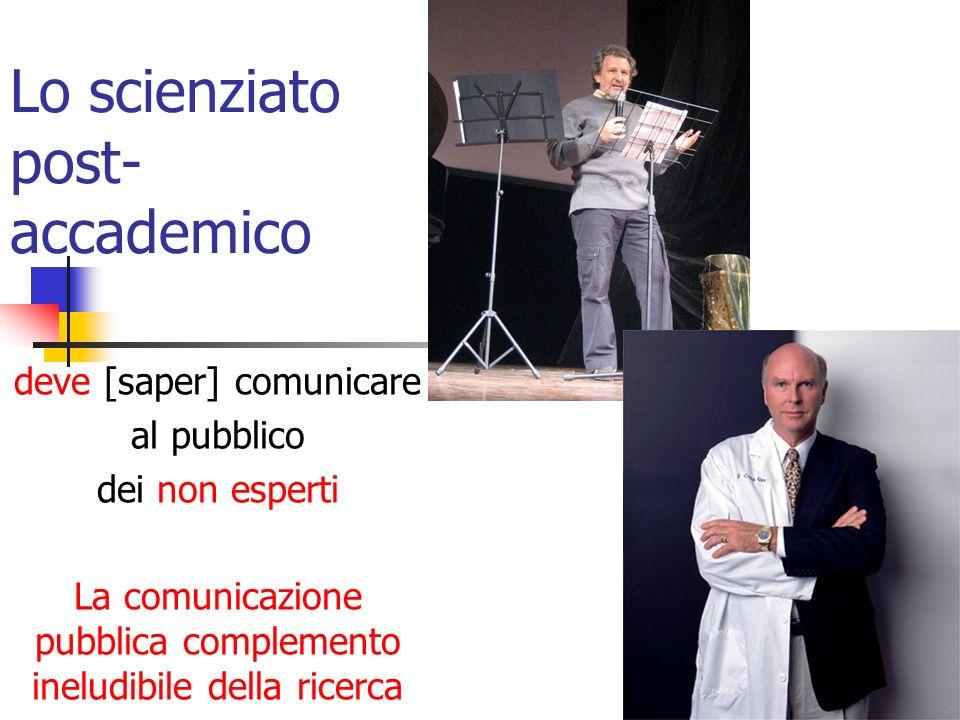 Nellarcipelago della CS Nellarcipelago della comunicazione pubblica della scienza: Non esistono limiti assoluti Non esistono norme assolute Non esistono modelli assoluti