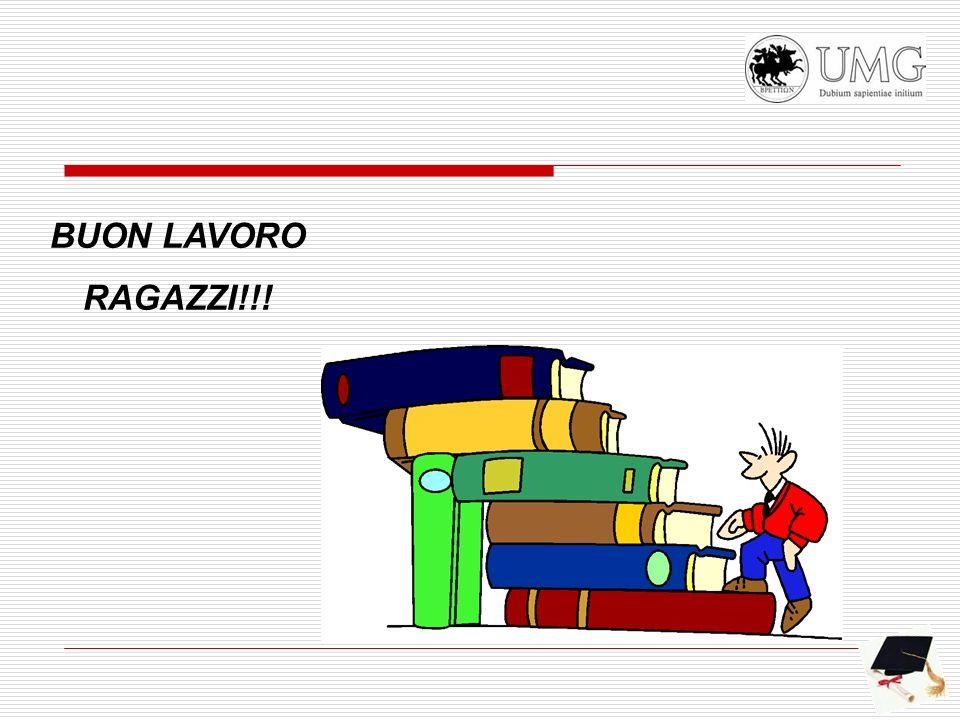 BUON LAVORO RAGAZZI!!!