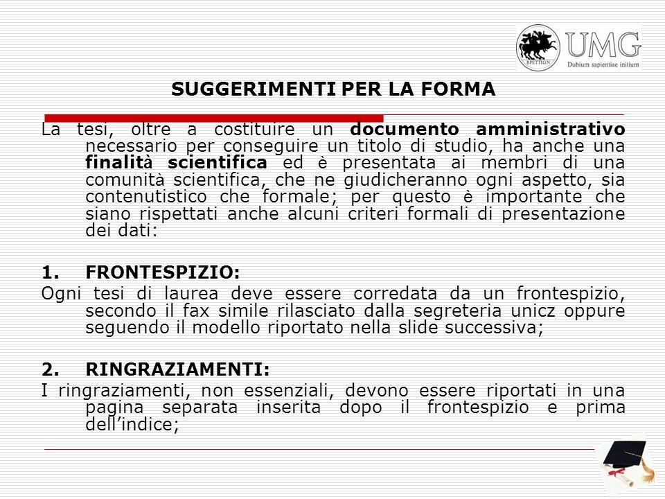 Fax-simile di frontespizio Università degli Studi Magna Græcia di Catanzaro Facoltà di Giurisprudenza Corso di Laurea in ______________ Tesi in ( inserire la materia) (inserire titolo) CANDIDATO RELATORE ___________ Chiar.mo Prof.