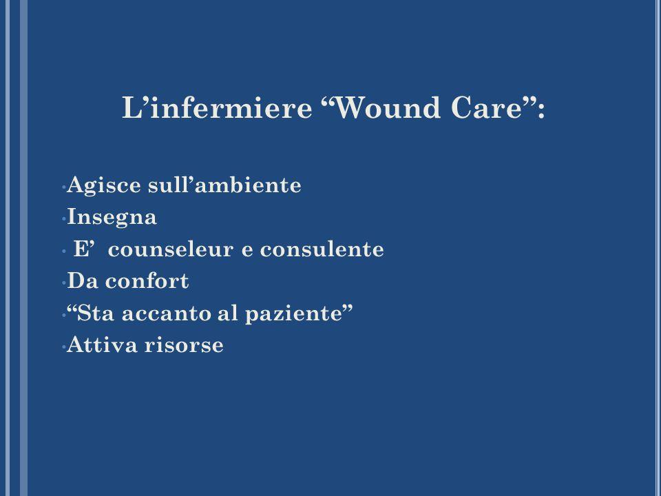 Linfermiere Wound Care: Agisce sullambiente Insegna E counseleur e consulente Da confort Sta accanto al paziente Attiva risorse