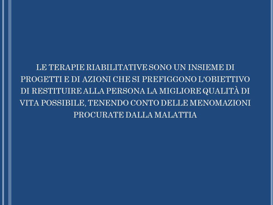 Diagnosi infermieristiche - north american nursing diagnosis association (nanda, 2005): Compromissione della mobilità Compromissione della deambulazione Compromissione della mobilità con la sedia a rotelle Compromessa capacità di trasferimento Compromissione della mobilità nel letto Intolleranza allattività Rischio di sindrome da immobilizzazione