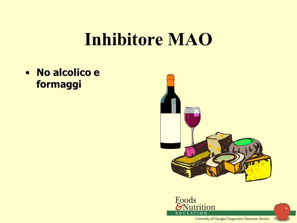 Inhibitore MAO No alcolico e formaggi