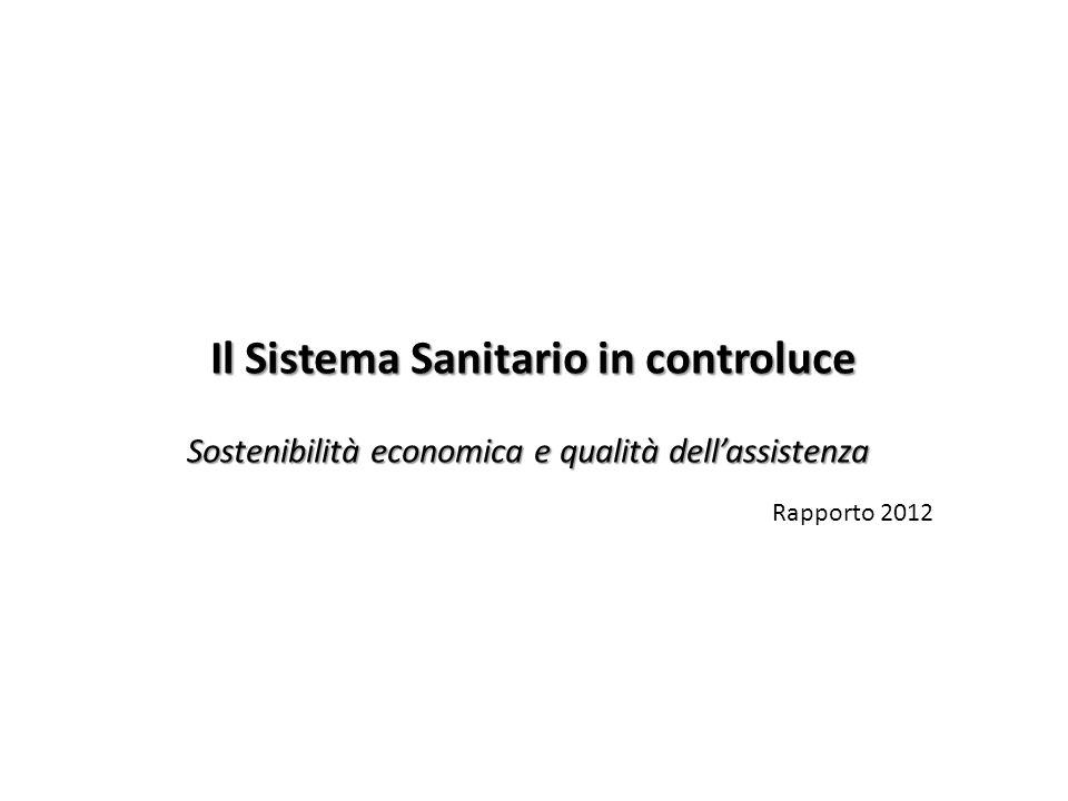Il Sistema Sanitario in controluce Sostenibilità economica e qualità dellassistenza Rapporto 2012