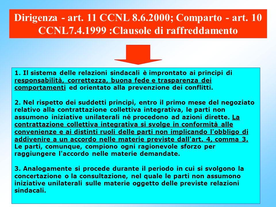 73 Comparto - art. 9 CCNL 7.4.1999:Composizione delle delegazioni 1. La delegazione trattante di parte pubblica, in sede decentrata, è costituita come