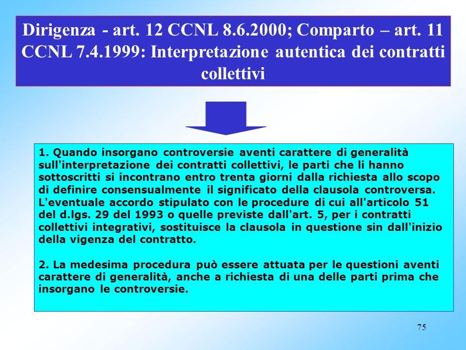 74 Dirigenza - art. 11 CCNL 8.6.2000; Comparto - art. 10 CCNL7.4.1999 :Clausole di raffreddamento 1. Il sistema delle relazioni sindacali è improntato