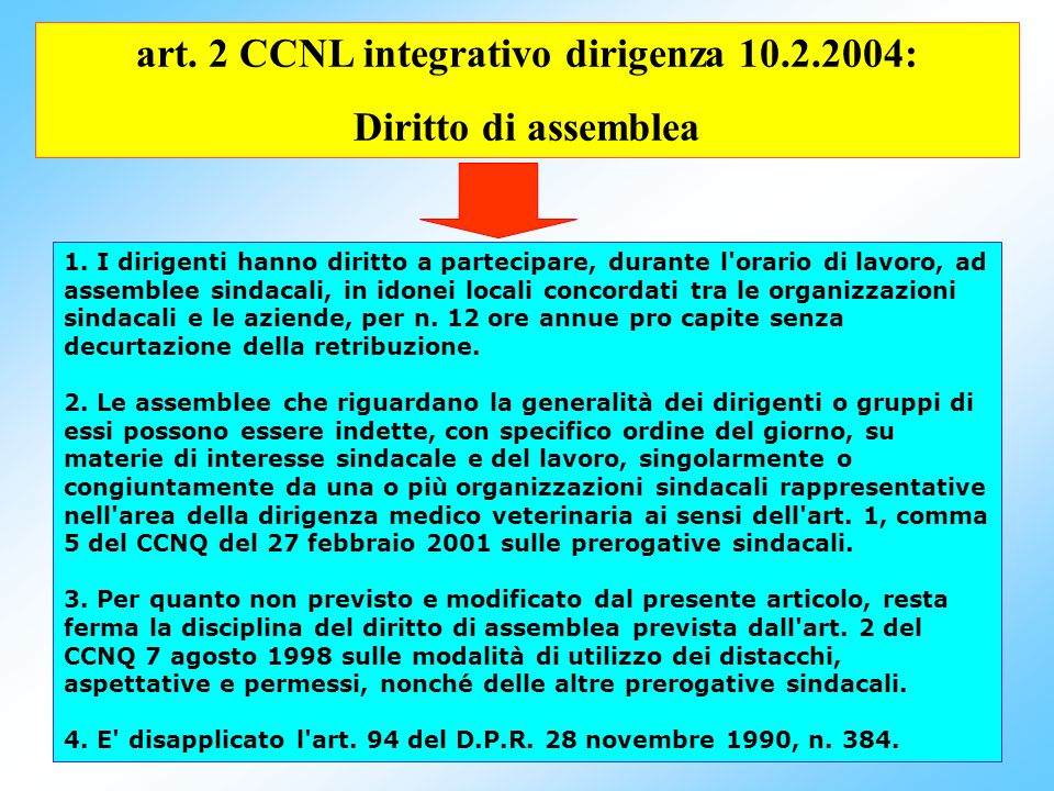 75 Dirigenza - art.12 CCNL 8.6.2000; Comparto – art.