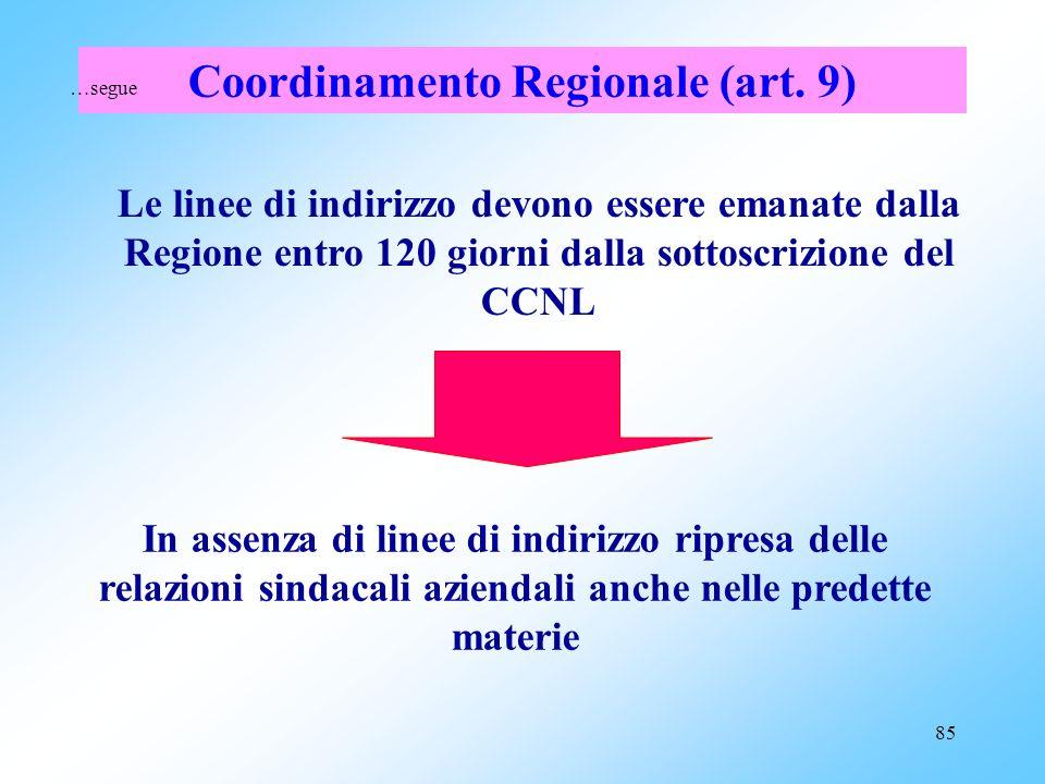 84 Il comma 4 Possibilità di integrare le materie espressamente previste al comma 1. Definizione allinterno di protocolli definiti in ciascuna Regione