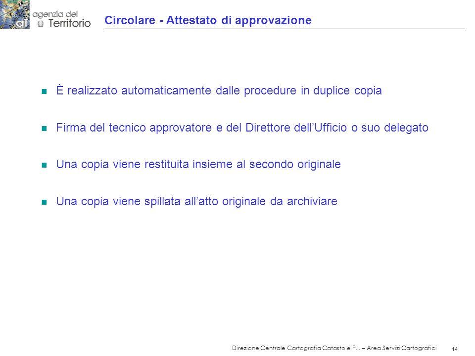 15 Direzione Centrale Cartografia Catasto e P.I.