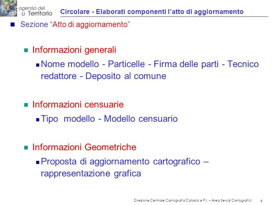 10 Direzione Centrale Cartografia Catasto e P.I.