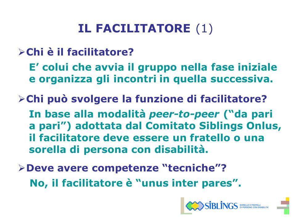 IL FACILITATORE (1) Chi è il facilitatore.