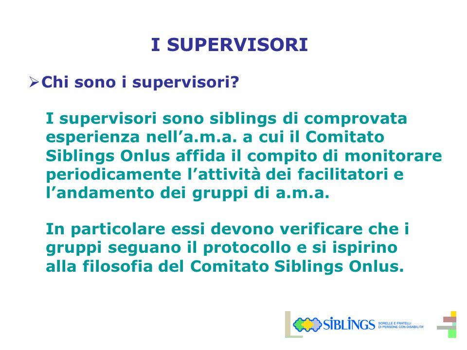I SUPERVISORI Chi sono i supervisori.