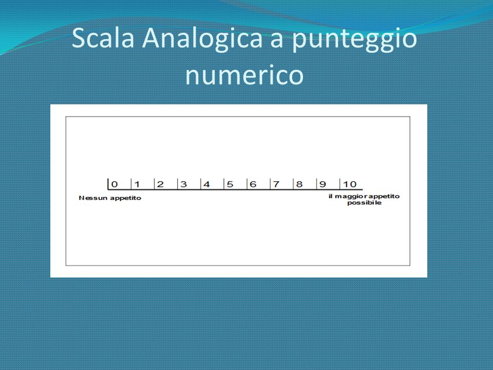 Scala Analogica a punteggio numerico