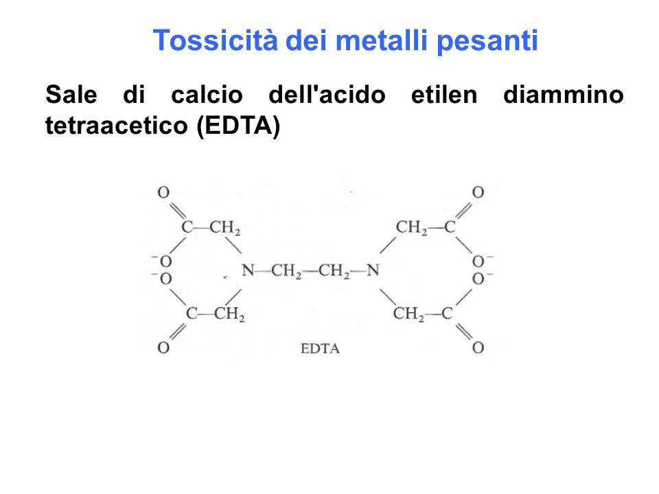 Tossicità dei metalli pesanti Sale di calcio dell'acido etilen diammino tetraacetico (EDTA)
