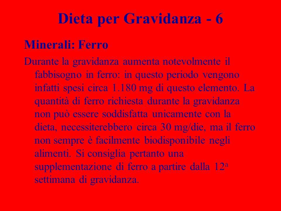 Dieta per Gravidanza - 6 Minerali: Ferro Durante la gravidanza aumenta notevolmente il fabbisogno in ferro: in questo periodo vengono infatti spesi ci