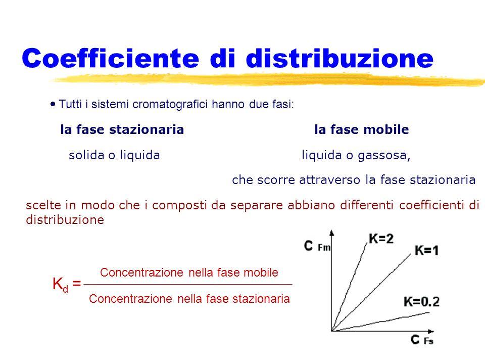 Coefficiente di distribuzione tutti i sistemi cromatografici hanno due