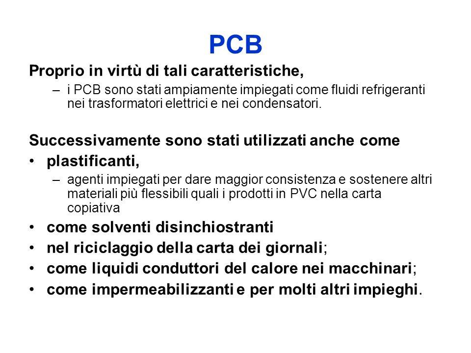 PCB Proprio in virtù di tali caratteristiche, –i PCB sono stati ampiamente impiegati come fluidi refrigeranti nei trasformatori elettrici e nei conden