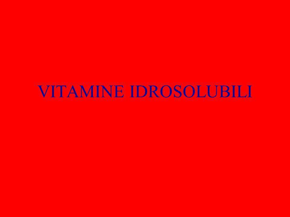 VITAMINA C La sua deficienza è causa dello scorbuto, da qui il nome di acido ascorbico.