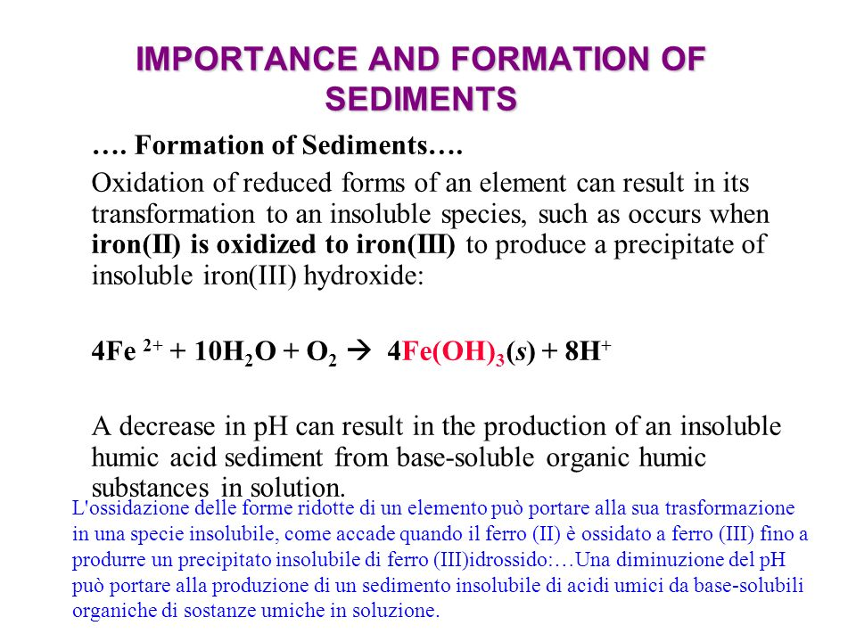 IMPORTANCE AND FORMATION OF SEDIMENTS ….Formation of Sediments….