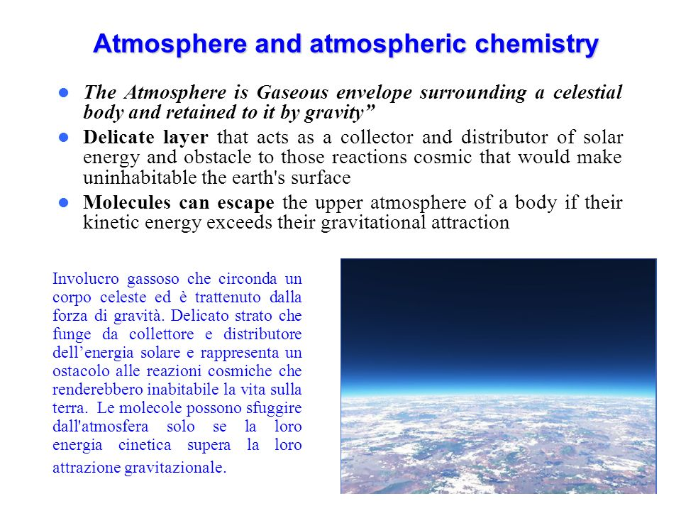 Chemical and Biochemical Processes in Evolution of the Atmosphere The earths atmosphere originally was very different from its present state and the changes were brought about by biological activity and accompanying chemical changes.