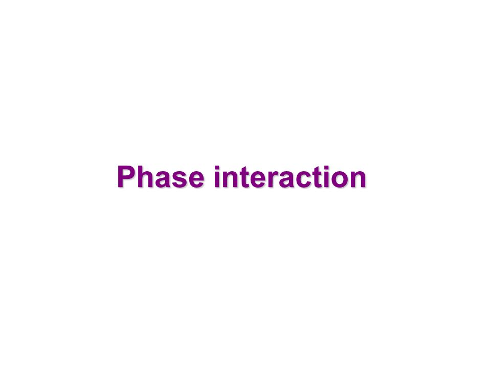 Phase interaction