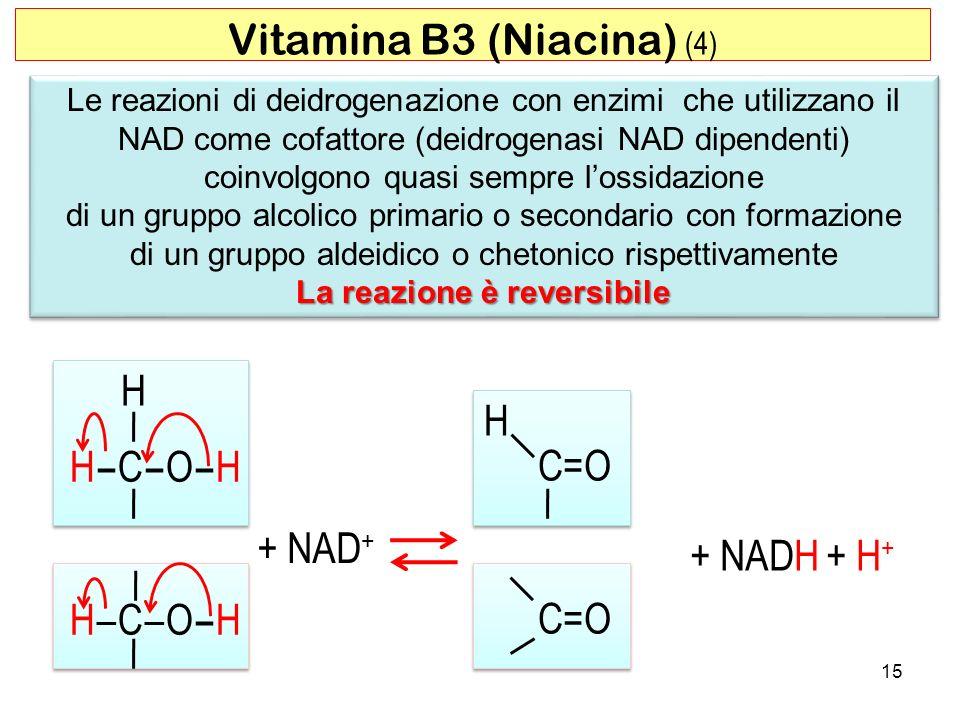 15 Le reazioni di deidrogenazione con enzimi che utilizzano il NAD come cofattore (deidrogenasi NAD dipendenti) coinvolgono quasi sempre lossidazione