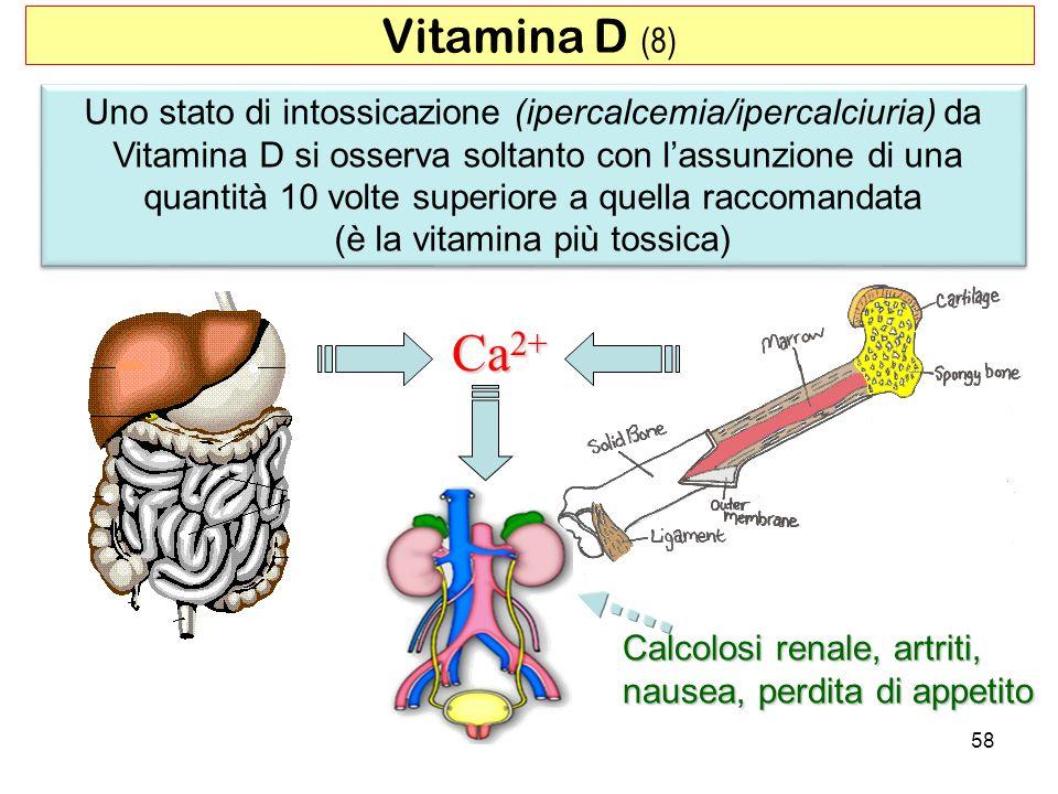 Uno stato di intossicazione (ipercalcemia/ipercalciuria) da Vitamina D si osserva soltanto con lassunzione di una quantità 10 volte superiore a quella