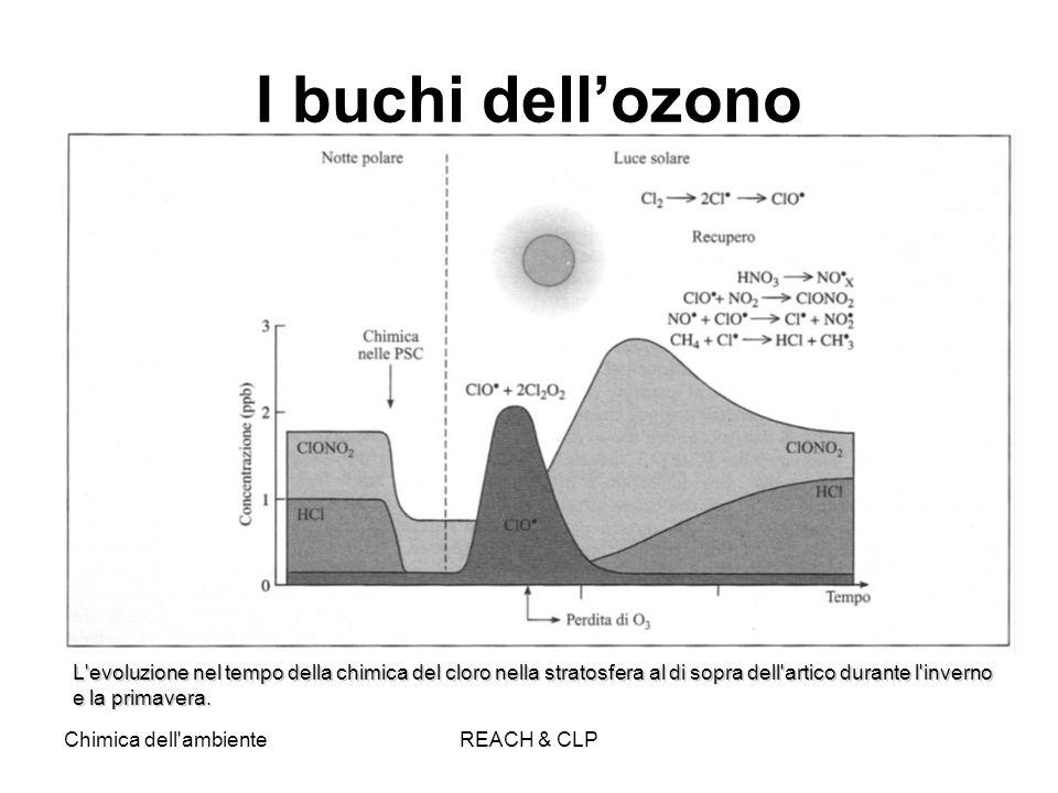 Chimica dell'ambienteREACH & CLP I buchi dellozono L'evoluzione nel tempo della chimica del cloro nella stratosfera al di sopra dell'artico durante l'
