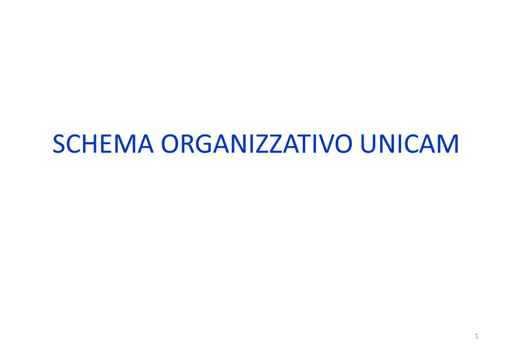 SCHEMA ORGANIZZATIVO UNICAM 1