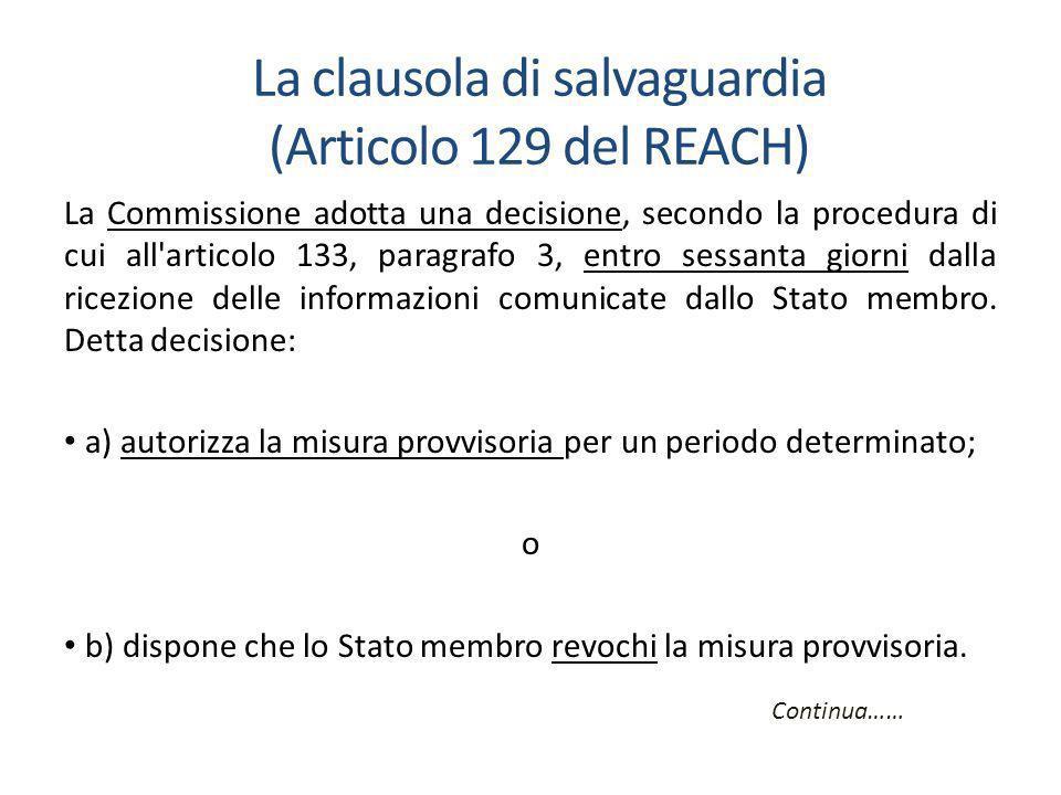La Commissione adotta una decisione, secondo la procedura di cui all articolo 133, paragrafo 3, entro sessanta giorni dalla ricezione delle informazioni comunicate dallo Stato membro.