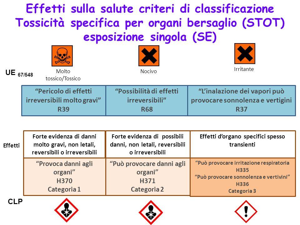 Pericolo di effetti irreversibili molto gravi R39 Possibilità di effetti irreversibili R68 Linalazione dei vapori può provocare sonnolenza e vertigini