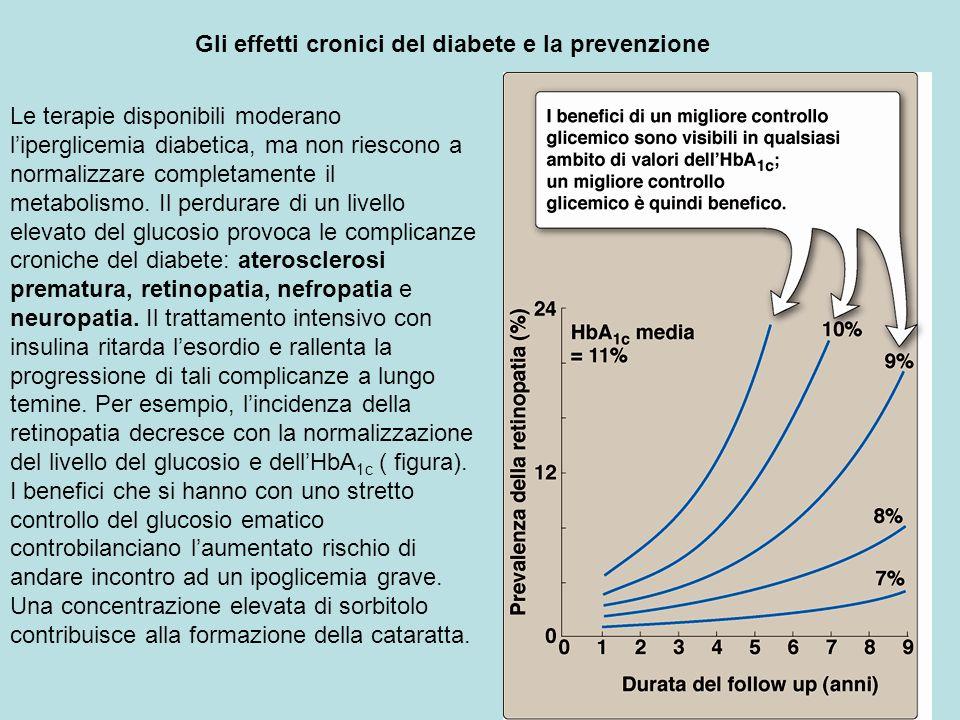 Gli effetti cronici del diabete e la prevenzione Le terapie disponibili moderano liperglicemia diabetica, ma non riescono a normalizzare completamente