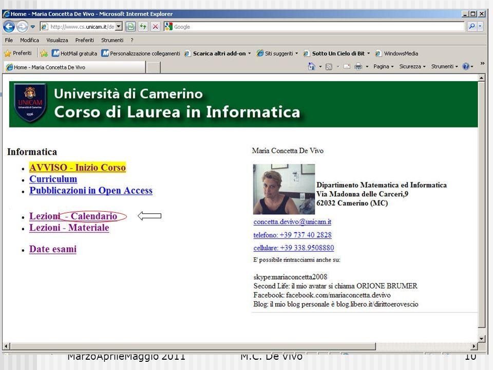 MarzoAprileMaggio 2011M.C. De Vivo10 Diritto e Nuove Tecnologie