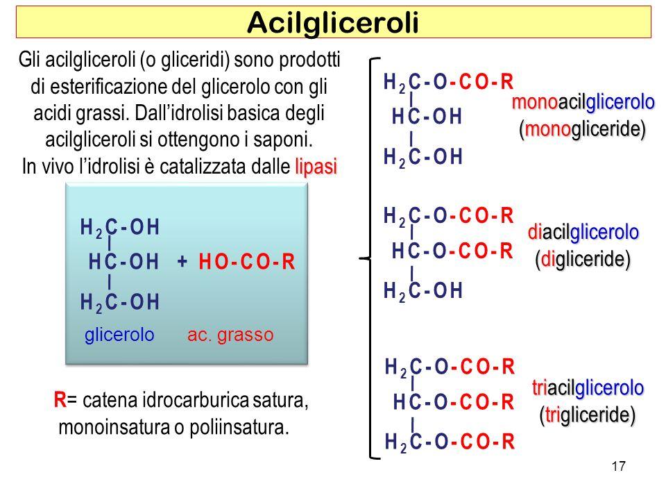 H 2 C-OH HC-OH + HO-CO-R H 2 C-OH H 2 C-OH HC-OH + HO-CO-R H 2 C-OH ac.