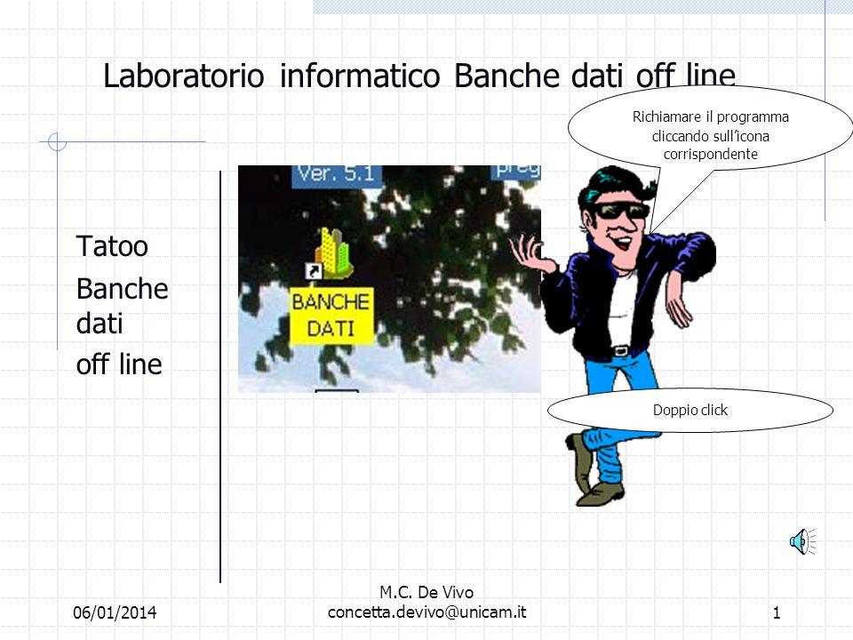 06/01/2014 M.C. De Vivo concetta.devivo@unicam.it11 Abbandono Minori Bingo!