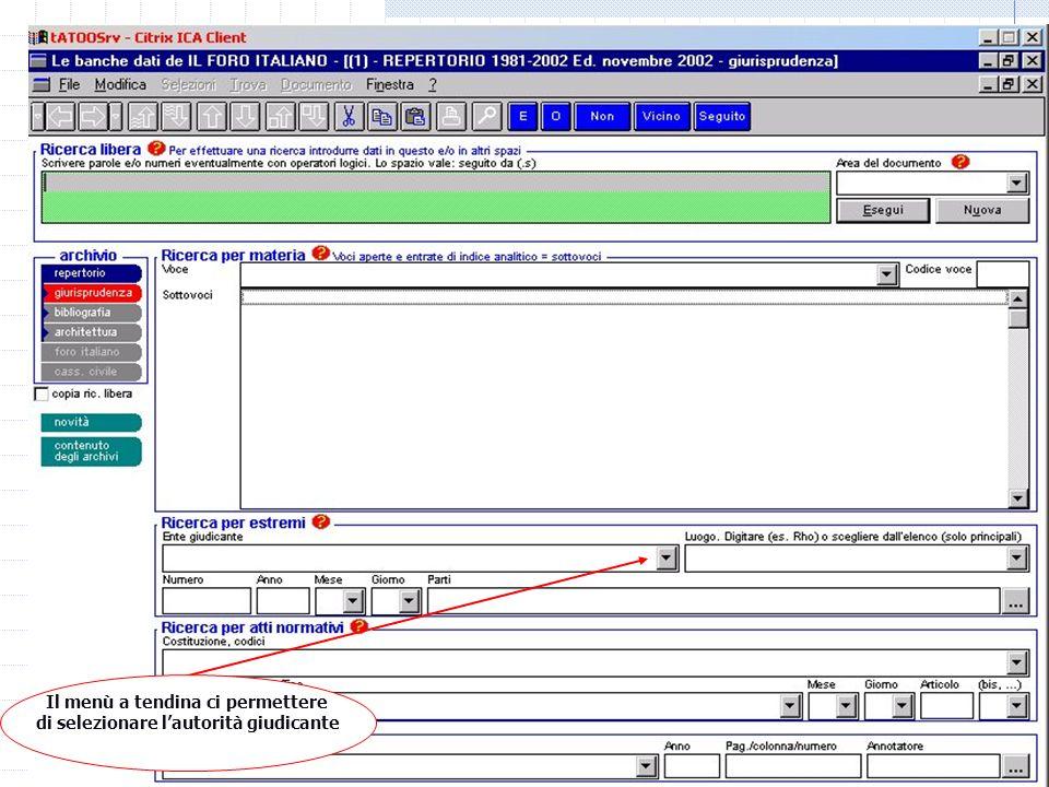 06/01/2014 M.C. De Vivo concetta.devivo@unicam.it12 Laboratorio informatico Banche dati off line Repertorio Foro Italiano Sentenza della Cassazione (p