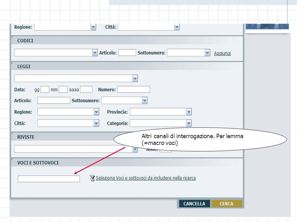 06/01/2014 M.C. De Vivo concetta.devivo@unicam.it25 Laboratorio informatico Banche dati off line Altri canali di interrogazione. Per organo che ha ema