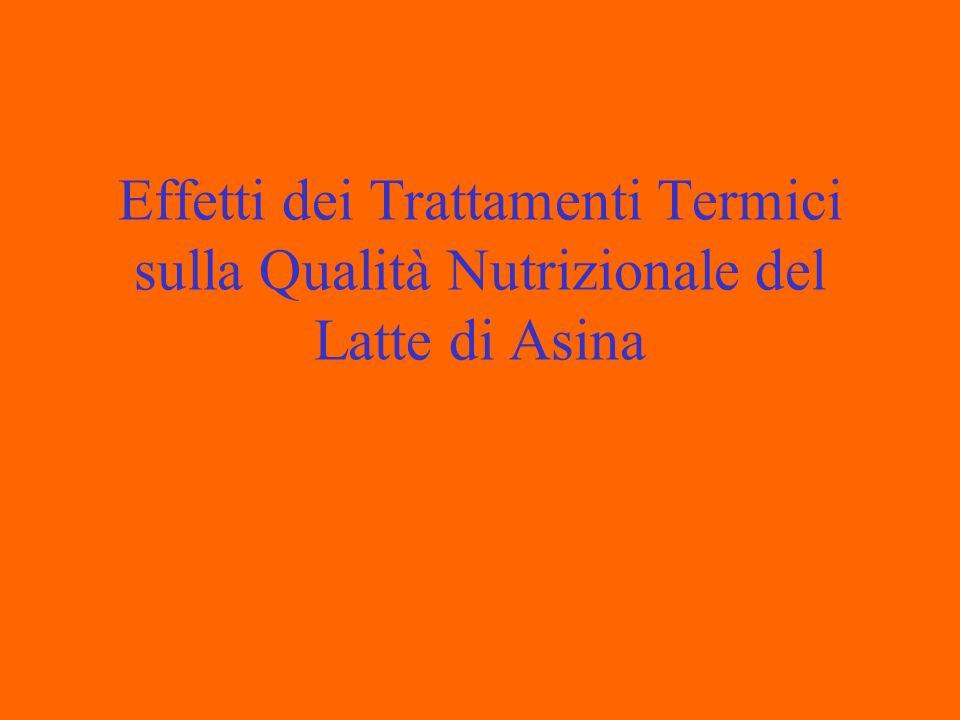 Effetti dei Trattamenti Termici sulla Qualità Nutrizionale del Latte di Asina