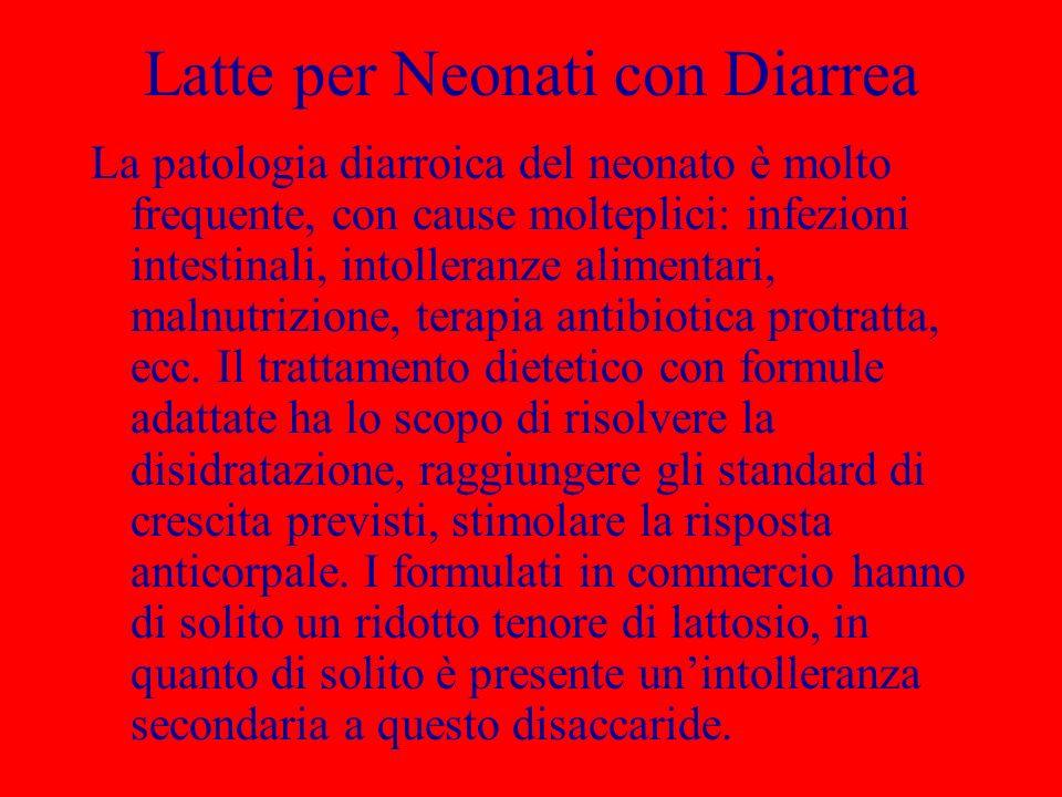 Latte per Neonati con Diarrea La patologia diarroica del neonato è molto frequente, con cause molteplici: infezioni intestinali, intolleranze alimenta