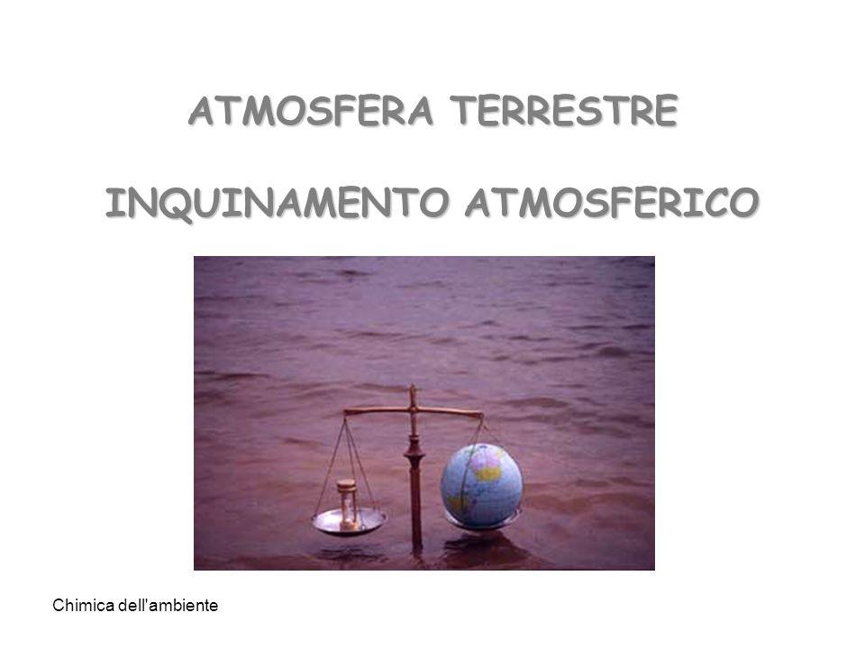 Chimica dell'ambiente ATMOSFERA TERRESTRE INQUINAMENTO ATMOSFERICO