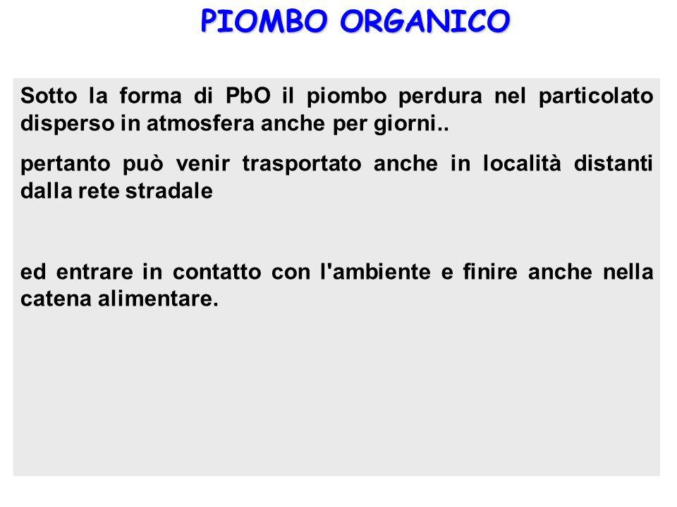 PIOMBO ORGANICO I composti organici del piombo che rivestono importanza sia dal punto di vista commerciale che ambientale sono il piombotetrametile Pb