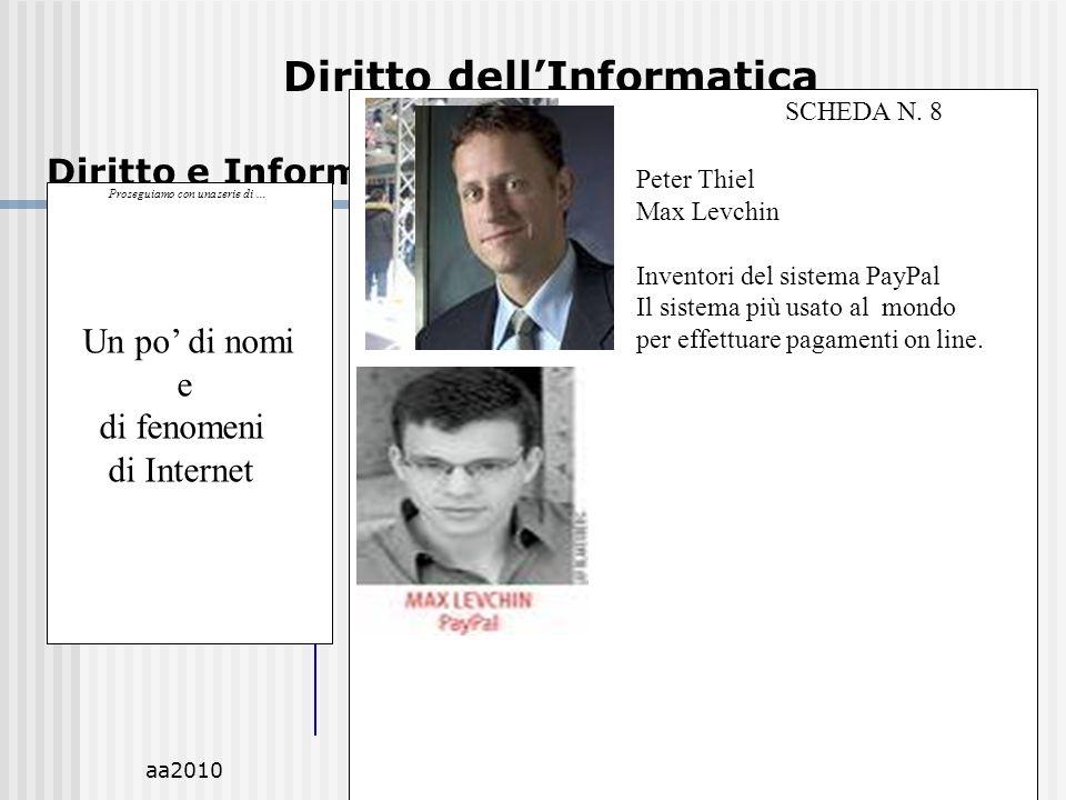 aa2010M.C.De Vivo29 Diritto dellInformatica Diritto e Informatica.