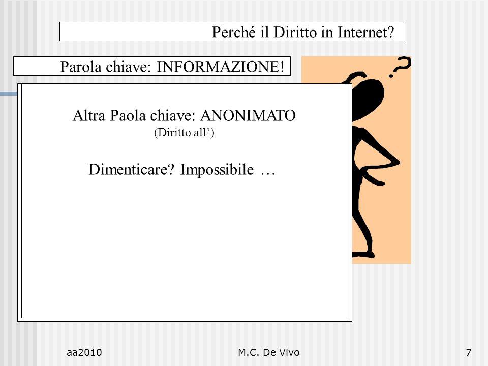 aa2010M.C.De Vivo7 Perché il Diritto in Internet.